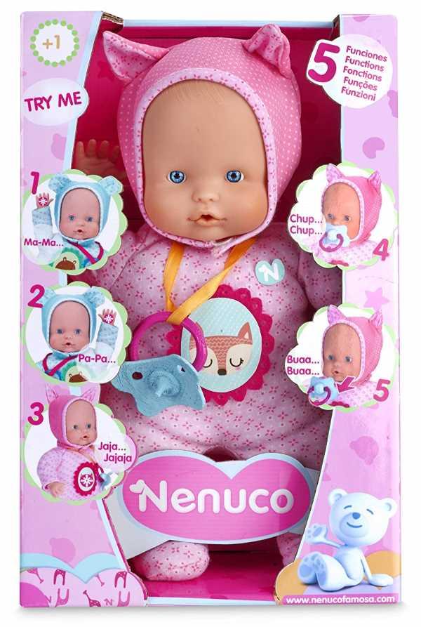 bebe interactivo nenuco blandito 5 funciones